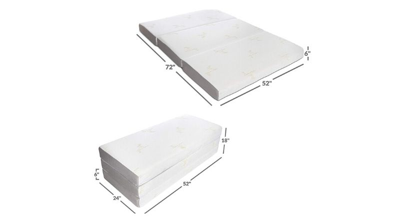Milliard Tri-Fold Memory Foam Mattress - Editor's Choice