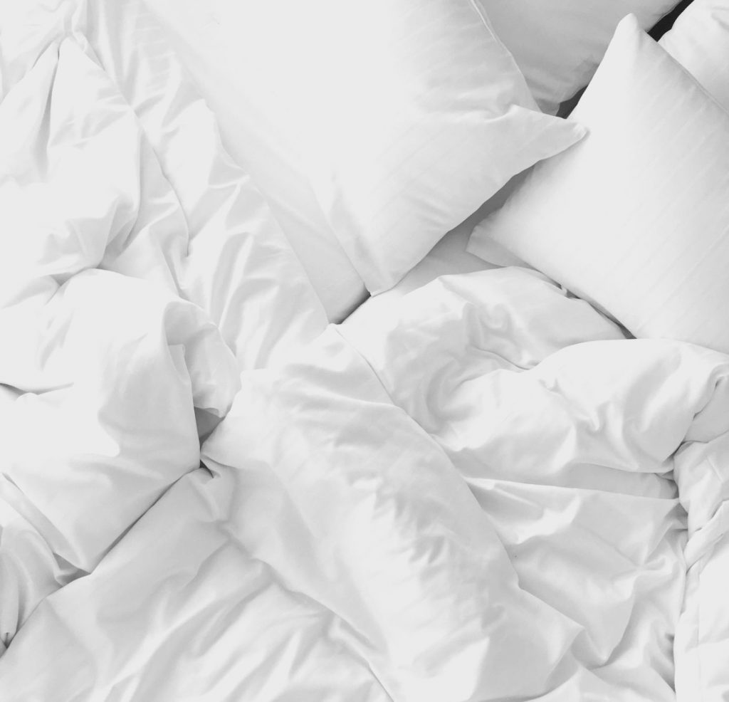 White sheets and pillow