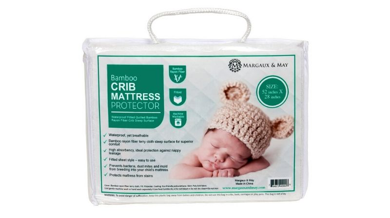 Best For Comfort – Crib Mattress Protector Pad By Margaux & May
