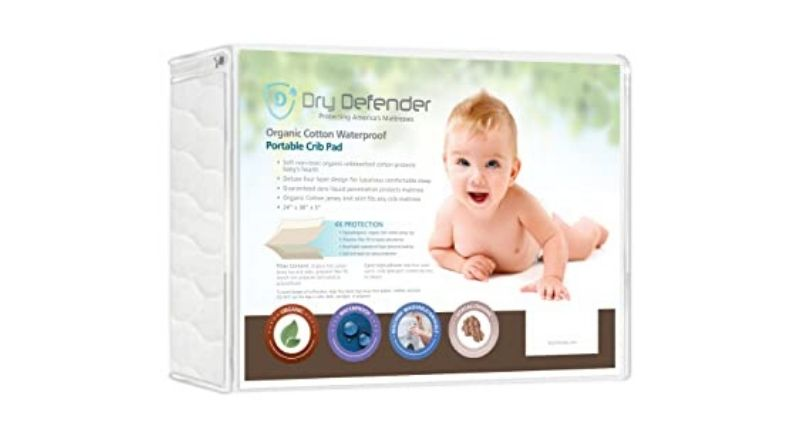 Best For Safety – Organic Cotton Waterproof Fitted Crib Pad