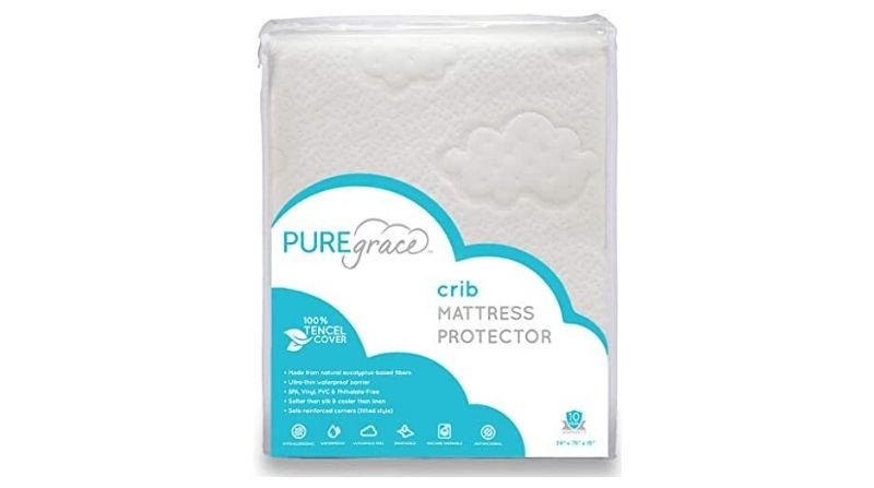 Best For Management – PUREgrace Crib Mattress Protector Pad