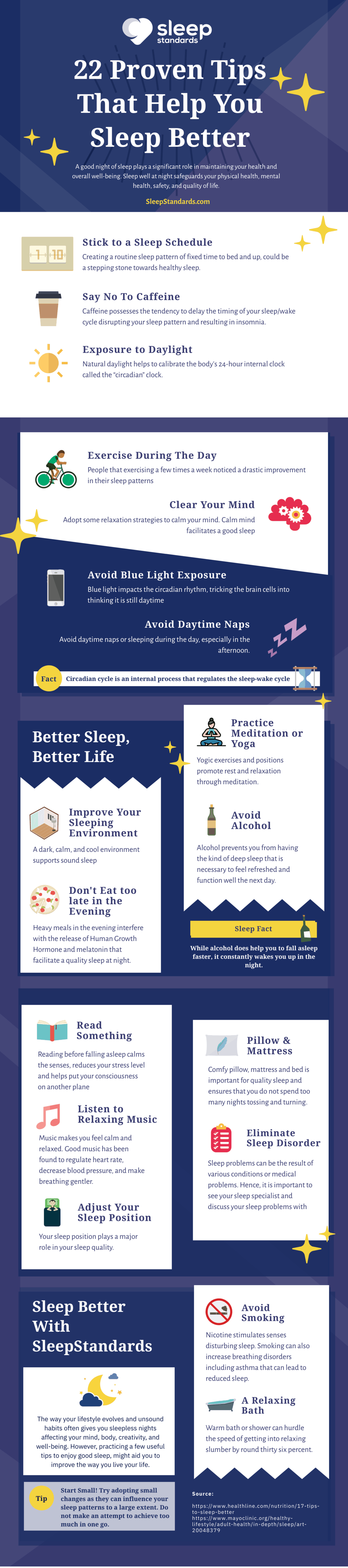 Sleep Tips Infographic