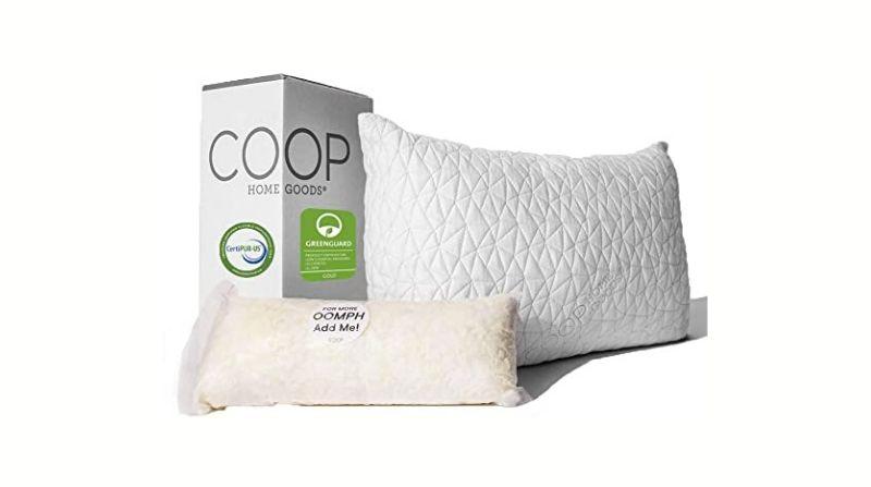 Coop Home Goods Premium Adjustable Loft Pillow - Best Overall Migraine Pillow