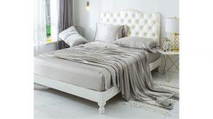 ZIMASILK 4 Pieces 100 Mulberry Silk Bed Sheet Set