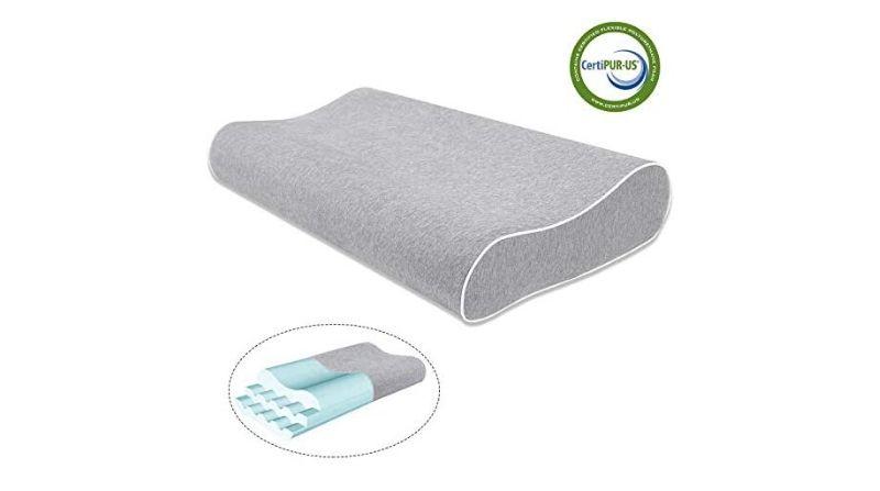 Mugetu Gel Infused Memory Foam Cervical Pillow – Best Thin Cervical Pillow