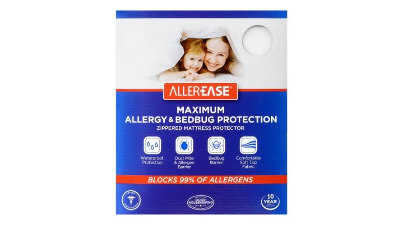 AllerEase Maximum Allergy and Bed Bug Waterproof Zippered Mattress Protector - Editor's Pick