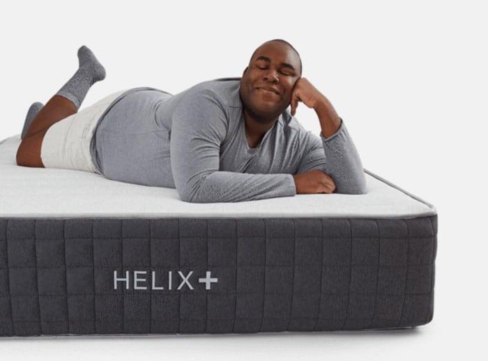 Helix Plus hybrid mattress side view