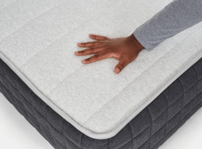Helix Plus hybrid mattress corner view