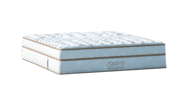 Saatva hybrid mattress corner view
