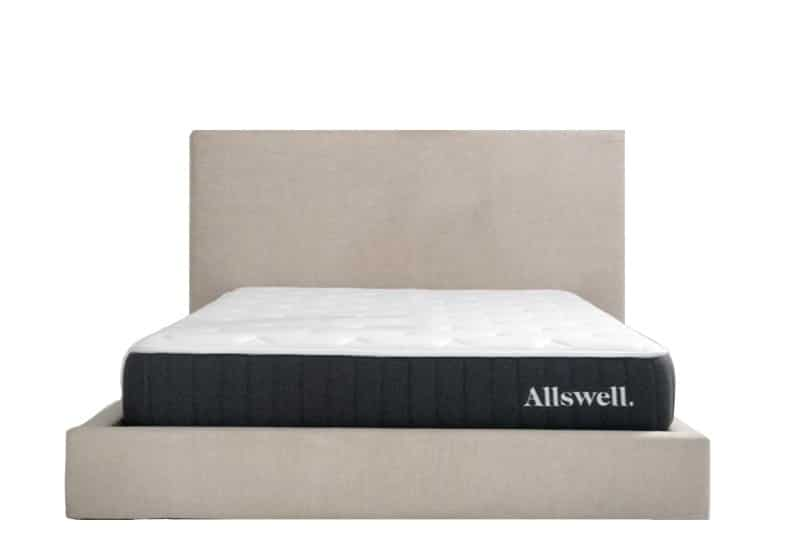 Allswell mattress for back pain 2021 front view on bed