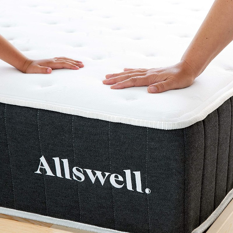 Allswell mattress for back pain 2021 corner view