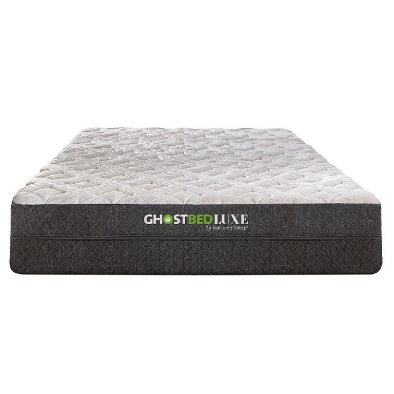 Ghostbed Luxe memory foam mattress front view