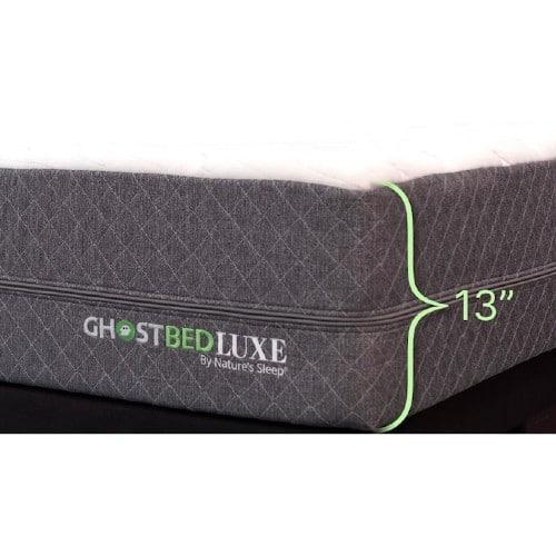 Ghostbed Luxe memory foam mattress side view