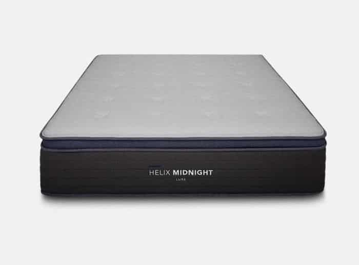 Helix Midnight Luxe mattress for side sleepers 2021 front view