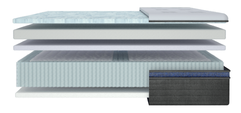 Helix Midnight Luxe mattress for side sleepers 2021 inside view