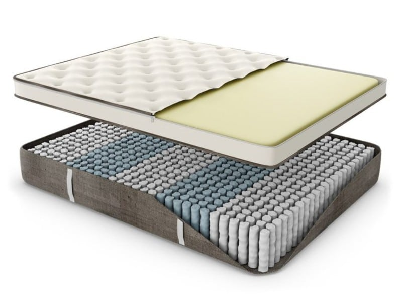 Nest Bedding Natural Latex mattress for back pain 2021 inside view