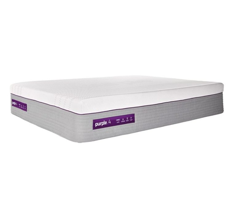 Purple Hybrid mattress for side sleepers 2021 side view