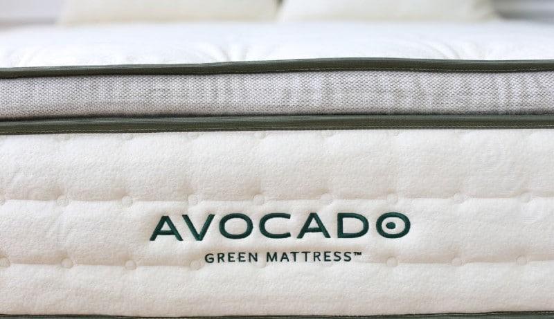 Avocado Green mattress closeup