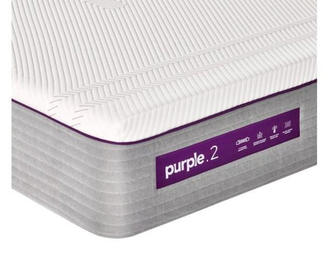 Purple mattress closeup
