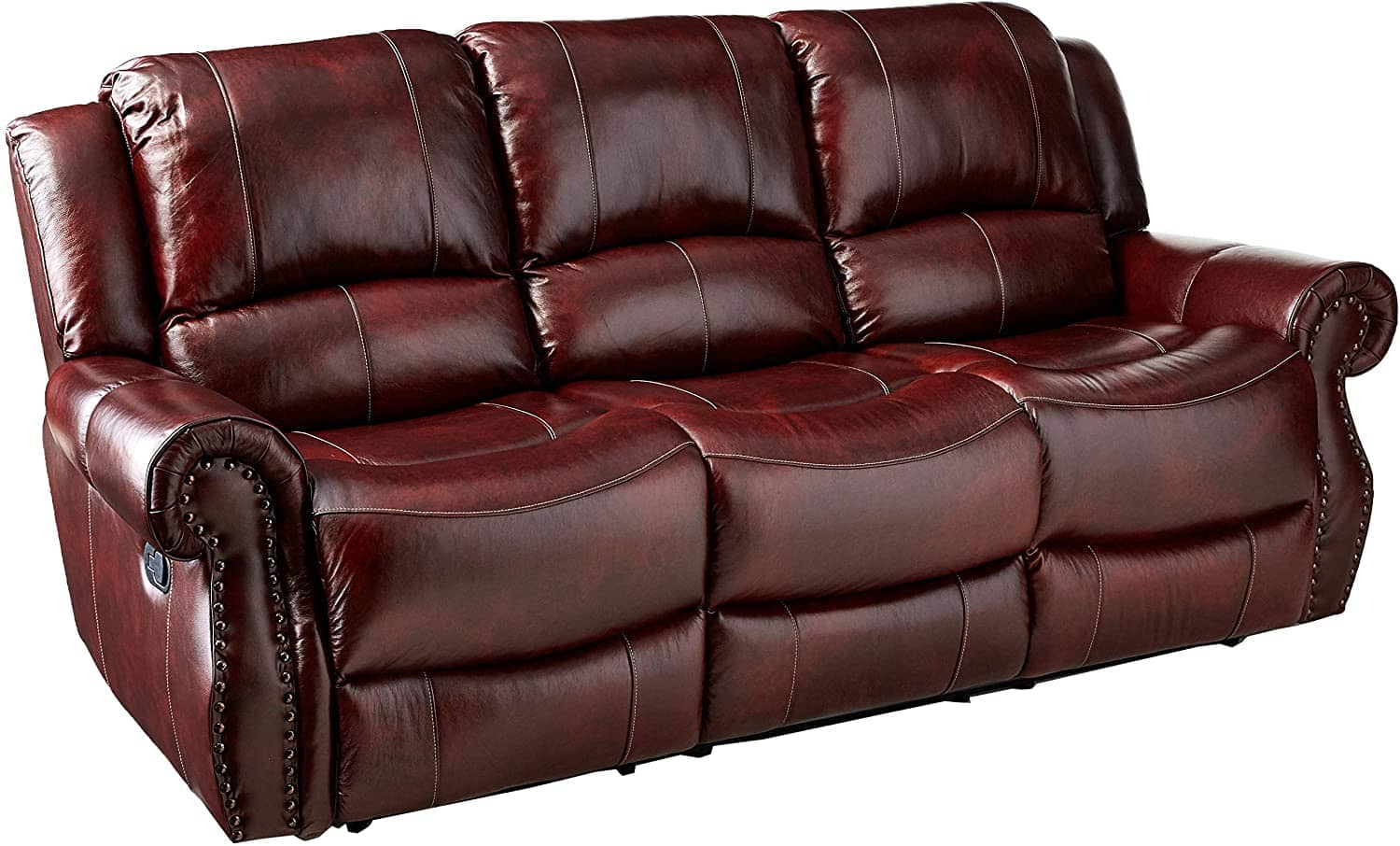 Cambridge Telluride Leather Double Reclining Sofa - Best for tall people