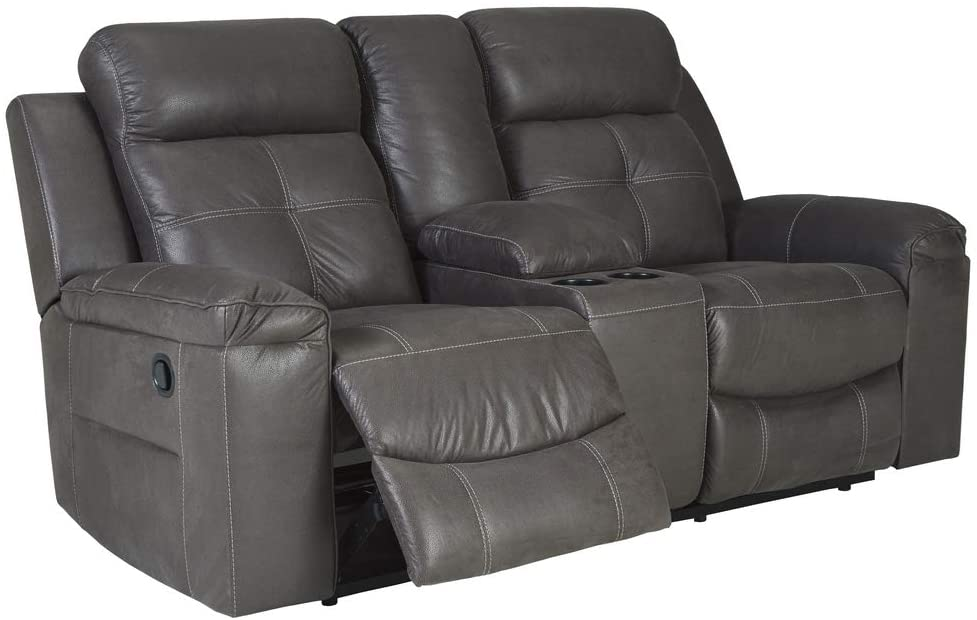 Signature Design by Ashley Jesolo Double Reclining Sofa - Most Spacious Recliner