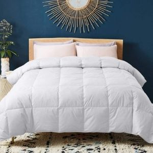 WhatsBedding Feather Filling Feather Comforter – Best Comforter for Summer