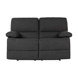 Divano Roma Furniture Classic and Traditional Dark Grey Fabric Oversize Recliner Chair, Love Seat, and Sofa (3 Seater)-