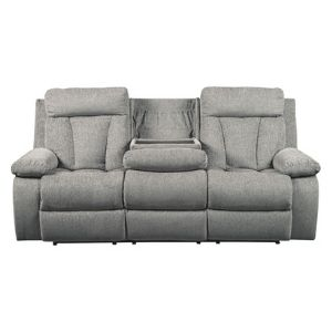 Signature Design by Ashley Mitchiner Reclining Sofa with Drop Down Table