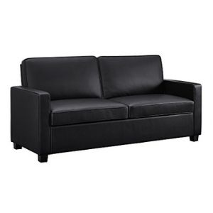 Signature Sleep Casey Faux Leather Sleeper Sofa With Memory Foam Mattress