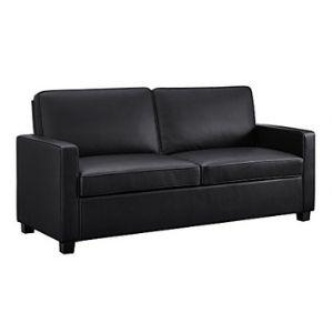Signature Sleep Casey Faux Leather Sleeper Sofa With Memory Foam Mattress