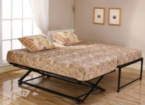 Kings Brand bed frame with popup trundle