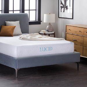 Lucid 10 inch memory foam mattress