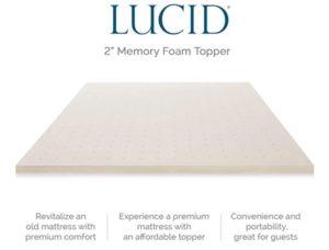 LUCID Memory Ventilated Mattress Topper